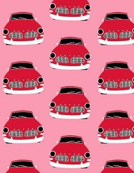 coches vintage rosa