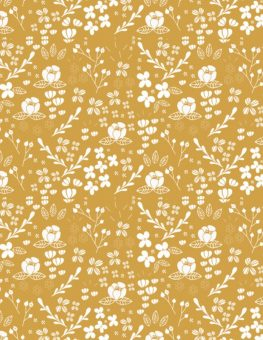 tela jersey elvely flores ocre